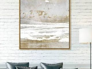 Gold  Oliver Gal Abstract Wall Art Framed Canvas Prints  Hopeful Romantic  Paint   Gold  Gray  Retail 291 98