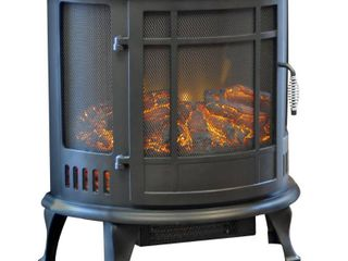 Richmond 180 Curved Infrared Stove Heater   Black   Estate Design