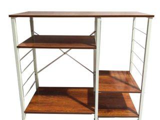 AlEKO Kitchen Cart Storage Utility Baker s Rack 4 Tier Shelving Vintage Rustic   35 4 x 15 7 x 30 7 inches  Retail 106 99
