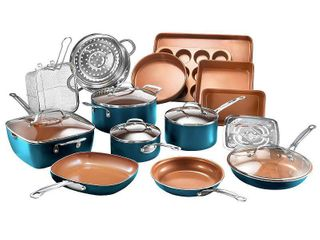 Gotham Steel 20 piece Complete Kitchen Cookware and Bakeware Set  Retail 199 99