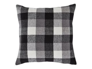 Set of 4 Signature Design by Ashley Carrigan Charcoal White Pillow