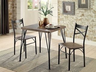 Chairs Only Furniture of America Zath Industrial Metal Dining Chairs