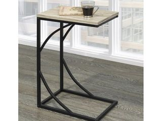 Set of 2 Charcoal  Darcy C style metal table