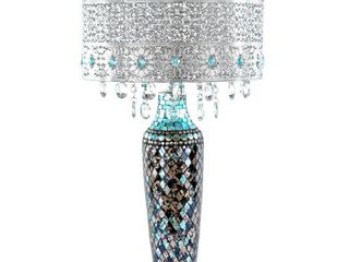 River of Goods Gracie s Crystal Table lamp  Turquoise