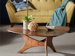 Carson Carrington Telsiai Triangle Wood Coffee Table  Retail 161 49