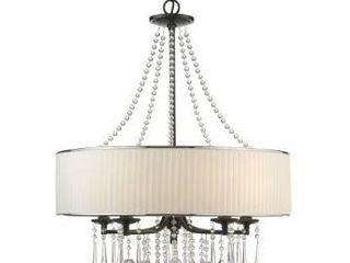 Silver Orchid Ilyinsky 5 light Drum Shade Chandelier  Retail 338 49