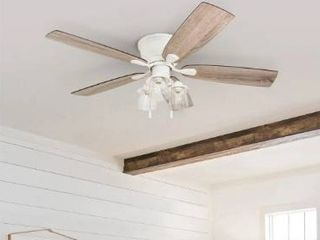 The Gray Barn Chevening 52 inch Coastal Indoor lED Ceiling Fan with Pull Chains