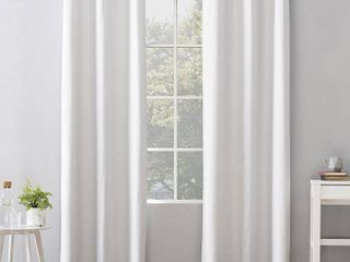 Set of 2 40 x96  Cyrus Thermal 100  Blackout Grommet Curtain Panel White   Sun Zero