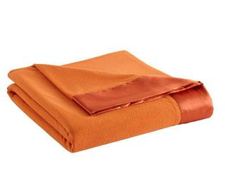 Shavel All Seasons Year Round Sheet Blanket with Satin Hem  Twin  Terracotta