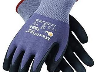 ATG 34 874 l MaxiFlex Ultimate   Nylon  Micro Foam Nitrile Grip Gloves   Black Gray   24 Pairs