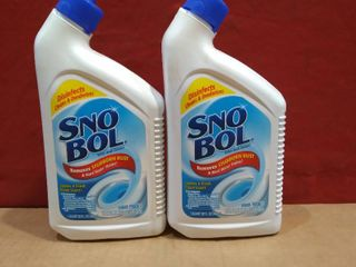lot of 2   Snow Bol Toilet Bowl Cleaner 1qt Disinfects  Cleans  Deodorizes