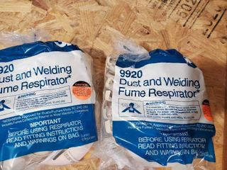 2 Packages of 10 3M 9920 Dust and Welding Respirator NSN4240 91 108 4171
