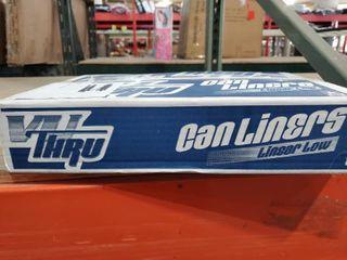 NovaPlus VP4015XC 33X39 33 GAllON clear Trash Can liners Case 250