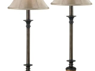 Bronze Copper Grove Delta 30 inch Bronze Buffet lamps  Set of 2  Retail 80 98