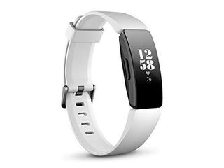 Fitbit Inspire Hr Heart Rate and Fitness Tracker With S and l Bands  White  One Size  1 Count