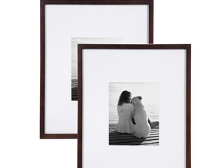 Gallery 2 PK 16x20 8x10 Wal Nut Picture Frames
