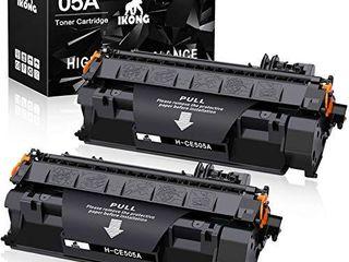 IKONG Compatible Toner Cartridge Replacement for HP 05A CE505A use with laserjet P2035 P2035n P2055d P2055dn P2055x Printer  2 Black