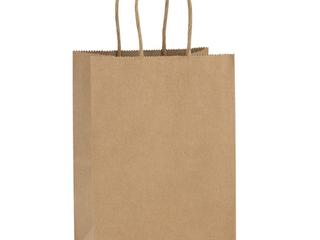 BagDream Kraft Paper Bags  Brown  100 pcs
