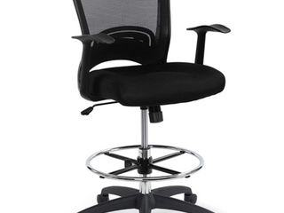 Chairman Victoria Height Adjustable and Tilt Drafting Chair   Black