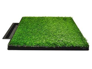 Downtown Pet Supply Dog Pee Potty Pad  Bathroom Tinkle Artificial Grass Turf  Portable Potty Trainer  20 x 25 Inch with Drawer