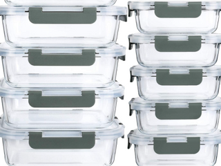 MCIRCao 12 pack Glass Food Storage Container