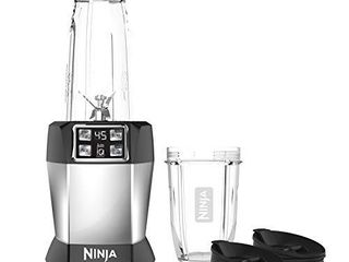 Ninja Bl480D Nutri 1000 Watt Auto IQ Base for Juices  Shakes   Smoothies Personal Blender  18 and 24 Oz  Black Silver