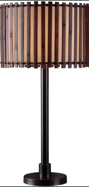KenroyHome Maroon Wood lamp 14x29