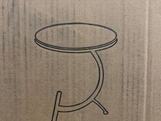 HuiDao Round Side Table 22x24 White