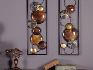 luxen Home 2 piece Abstract Metal Wall Panels