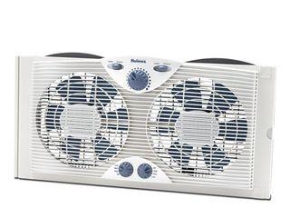 Holmes Dual Blade Window Fan with Comfort Control Thermostat  HAWF2041 N
