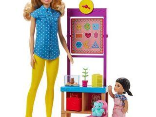 Barbie Careers Teacher Doll   Student Doll Classroom Playset