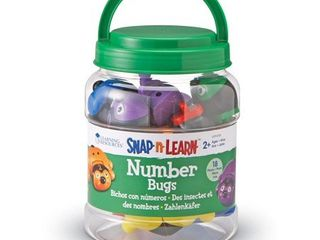 learning Resources Snap n learn Number Bugs  18 Pieces  Ages 2