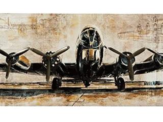 Kalene Vintage Airplane Wall Art