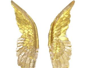 Near and Dear Angel Wall Decor Gold