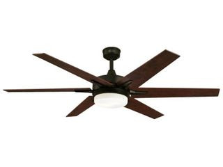 60  Oil Rubbed Bronze Finish Reversible Blades  Applewood Cherry  Includes light Kit with Opal Frosted Glass