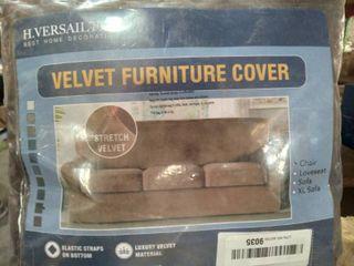 Velvet Furniture Cover Chair  Brown