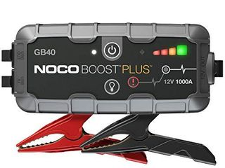NOCO Boost Plus GB40 1000 Amp 12 Volt UltraSafe Portable lithium Jump Starter  Car Battery Booster Pack  And Jumper Cables For Up To 6 liter Gasoline And 3 liter Diesel Engines