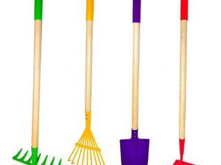 Kids Garden Tools Set  Rake  Spade  Hoe and leaf Rake  Justforkids