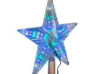 Kurt Adler 8 5 in  Color Changing lED Star Tree Topper