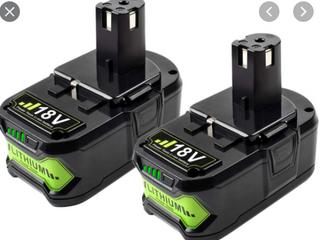 li ion 18V lithium Battery pack of 2