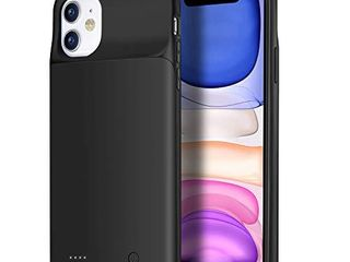 Wixann Battery case for iPhone 11  4500mAh Slim Portable Charger Case Protective Rechargeable Battery Pack Charging Case for iPhone 11  6 1 inch