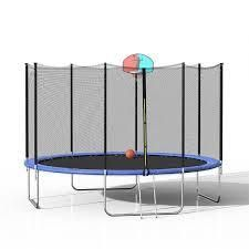 Merax 12FT  16FT Round trampoline with outer net and ladder onlyRetail 899 99 blue