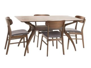 lucious rubberwood dining table only natural walnut