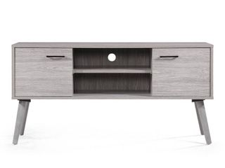 Amarah Mid Century Modern Wood TV Stand by Christopher Knight Home  Retail 178 74 grey