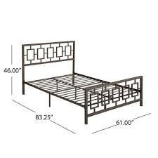 claudia modern iron queen bed frame hammered copper
