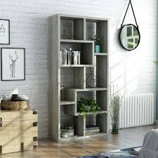 Ramses Modern Grey Bookcase Display Cabinet  Retail 266 49 vintage grey oak
