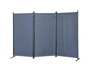 Galaxy Outdoor Indoor 3 panel Room Divider with Heavy Duty Metal Tubing Frame and Water Resistant Fabric  Retail 131 99 gray