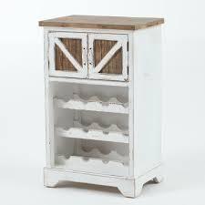 wood wine cabinet 32hx28w white distressed wood