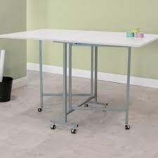 Studio Designs White Powder coated Craft And Cutting Sewing table White