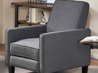 Darvis Contemporary Fabric Recliner 1 only smoke grey and dark brown